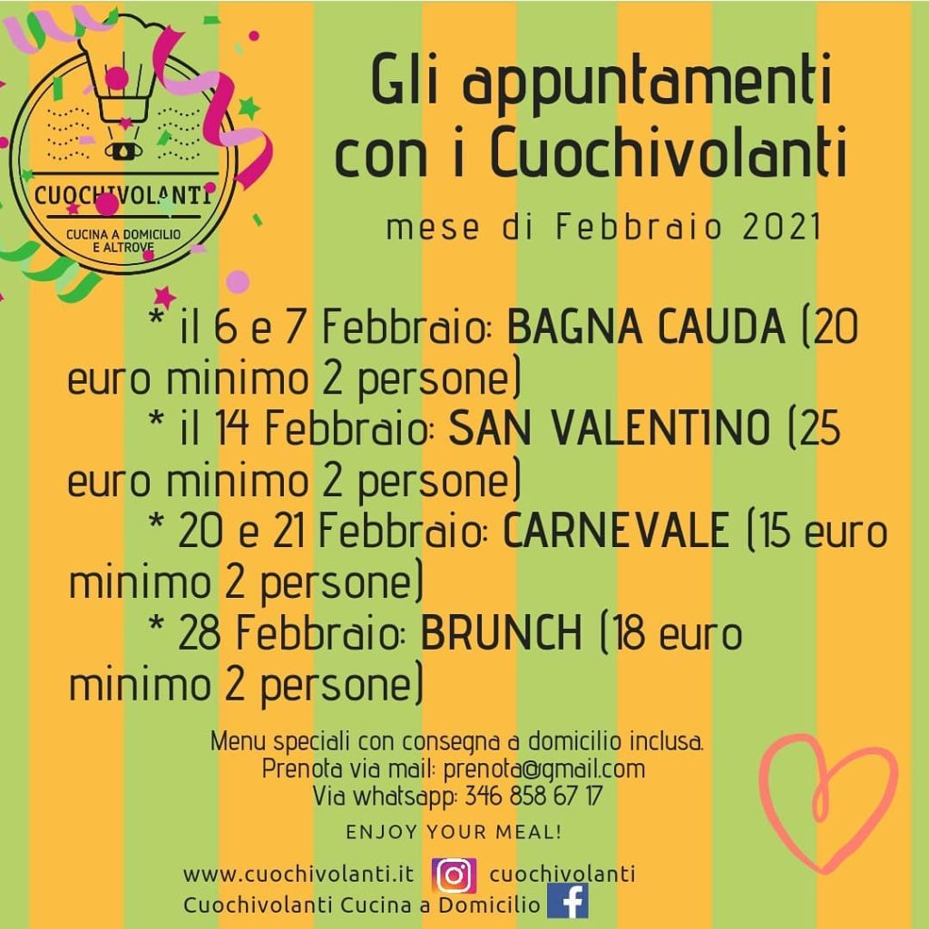 Calendario Febbraio Cuochivolanti